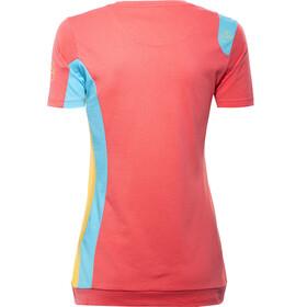 La Sportiva Elixir T-Shirt Women coral/malibu blue